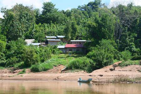 ou: Small village along the Nam Ou river in Laos