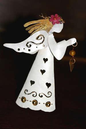 Ange de No�l avec des cheveux d'or Banque d'images - 16747919
