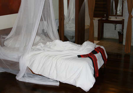 Room with a mosquito net against malaria Stock Photo - 16972130
