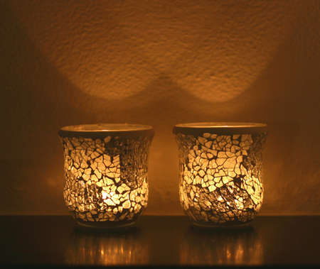 Candle lights in the dark Stock Photo - 17217267