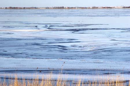 cane plumes: Colors in a frozen IJsselmeer in Holland