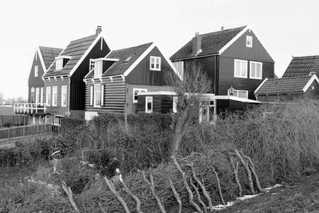 Old village Marken near Amsterdam along the IJsselmeer Stock Photo - 17687962