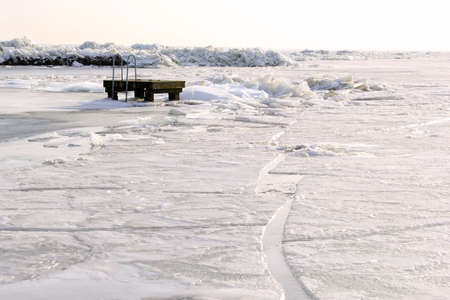 Frozen IJsselmeer near Amsterdam Stock Photo - 17688048