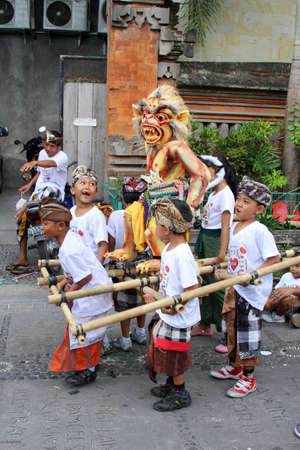 Young boys at Nyepi festival in Ubud Bali