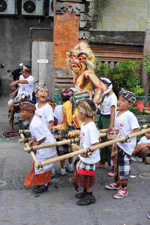 Young boys at Nyepi festival in Ubud Bali