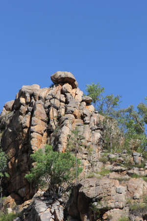 katherine: Rock formations in Katherine Gorge in Australia