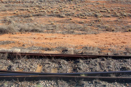 Rails in the outback of Australia photo