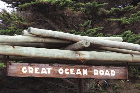Great Ocean Road between Melbourne and Adelaide in Australia