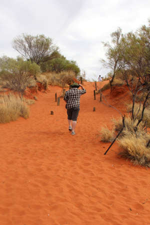 red centre: Hiking in the red centre of Australia near Ayers Rock