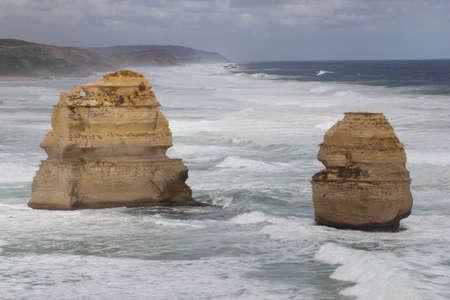 Twelve apostles at the Great Ocean Road in Australia photo