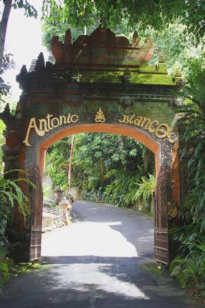 blanco: Entrance of the Antonio Balnco Museum in Ubud Bali