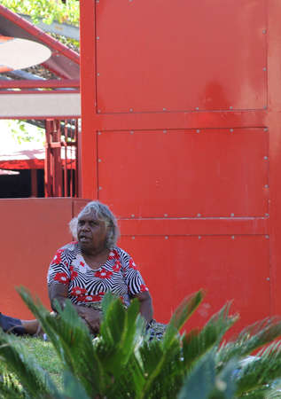 Aboriginal woman in Alice Springs Australia