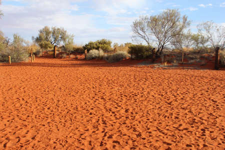 Red sand dune in the red centre of Australia