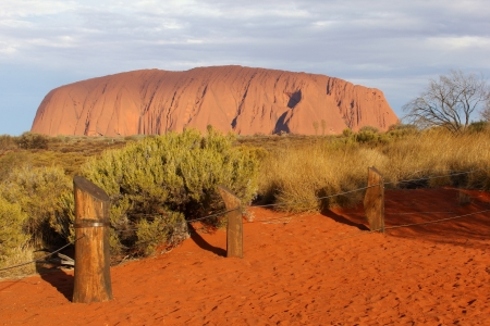 Sunset at Ayers Rock in Australia Stock Photo