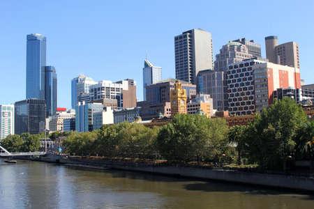 ventures: Skyline of Melbourne along the Yarra river