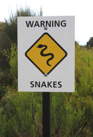 Background warning for snakes photo