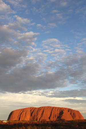 ayers: Sunset at Ayers Rock in Australia Editorial