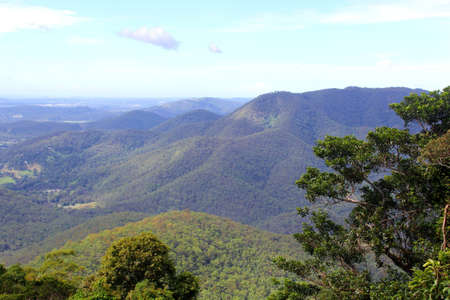 View at the Tamborine Mountain in Queensland Australia