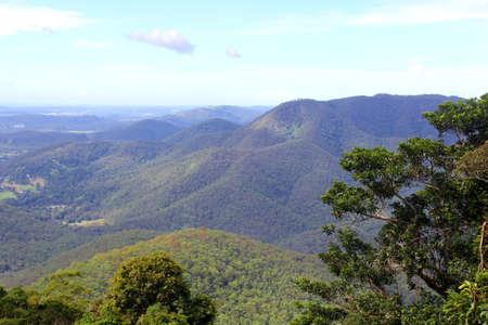 View at the Tamborine Mountain in Queensland Australia