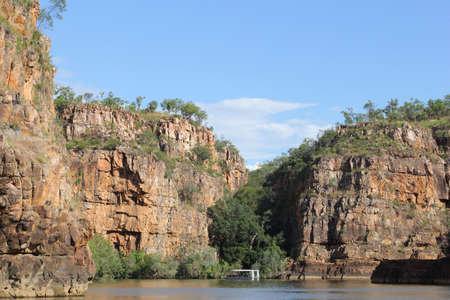 katherine: A boat in the Katherine Gorge in Northern Territory Australia