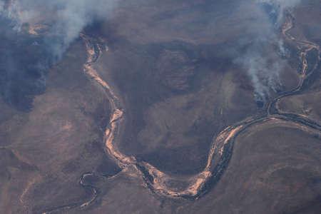 buisson: Vue aérienne des nuages ??de fumée de la forêt se déclenche dans l'Outback australien dans le Territoire du Nord