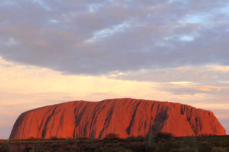 Sunset at Ayers Rock in Australia Editorial