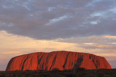 adventuresome: Sunset at Ayers Rock in Australia Editorial