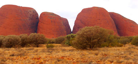 Orange colors during sunset at the Kata Tjuta in Northern Territory Australia