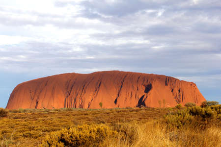 Sunset at Ayers Rock in the red centre of the Northern Territory in Australia