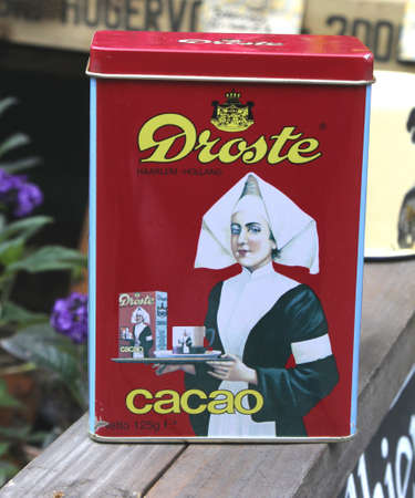 Netherlands, july 1, 2013 Vintage metal tin with cacao