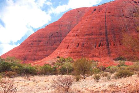 ayers: Northern Territory, Australia, march 25, 2013 Kata Tjuta Olgas in the Kata Tjuta Ayers Rock National Park in the red centre of Australia Editorial