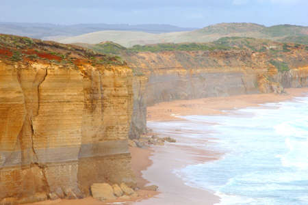 Coastline of the Great Ocean Road between Melbourne and Adelaide in Australia photo