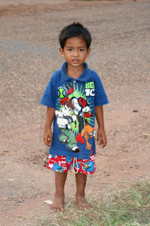 illiteracy: Lao Peoples Democratic Republic, october 27, 2012 Portrait of a young Laotian boy  Editorial