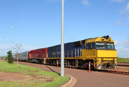 Public transport by train in the Australian Outback photo