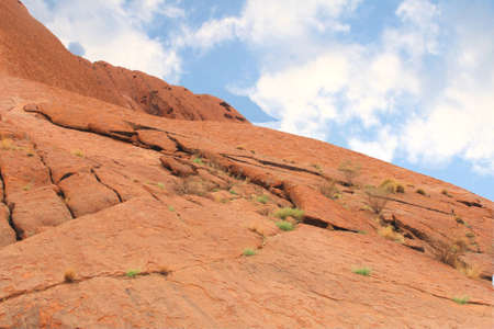 Landscape in the red centre of Australia with a blue sky photo