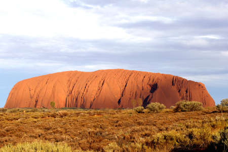 Sunset at Uluru in Northern Territory Australia photo
