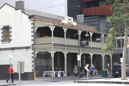 familiy: Melbourne, Victoria, Australia, april 2, 2013 Trendy Captain Melville Bar and Restaurant in Franklin Street in Melbourne Editorial