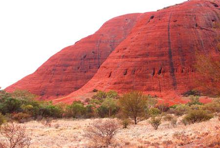 kata: Australian Landscape Kata Tjuta Olgas during sunset Editorial