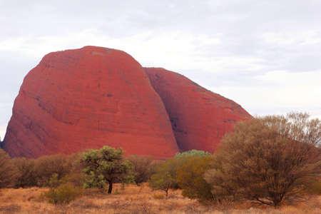 olgas: The Olgas Kata Tjuta in Australia during sunset Stock Photo