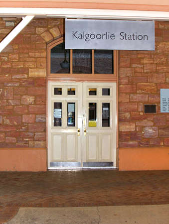Kalgoorlie, Western Australia, Australia, april 7, 2013  Railway station in Kalgoorlie, a mining town with gold mines in Western Australia