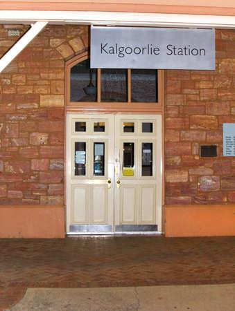 plains indian: Kalgoorlie, Western Australia, Australia, april 7, 2013  Railway station in Kalgoorlie, a mining town with gold mines in Western Australia