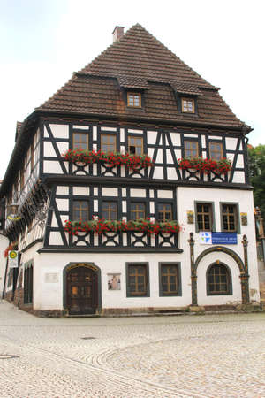 reformation: Eisenach, Thuringia, Germany, august 8, 2013 The Lutherhaus is a museum in Eisenach to remember Martin Luther who lived from 1483 until 1546 and who initiatied the Protestant Reformation  in Thuringia in eastern Germany