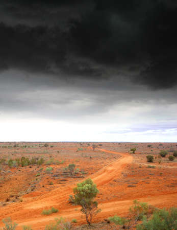 severe weather: Thunderstorm and severe weather above the Australian Outback