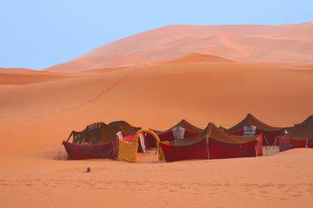 Bedouin tents in the Sahara