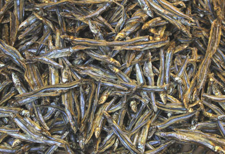lantau: Small dried fish is a delicacy in Hong Kong  Stock Photo