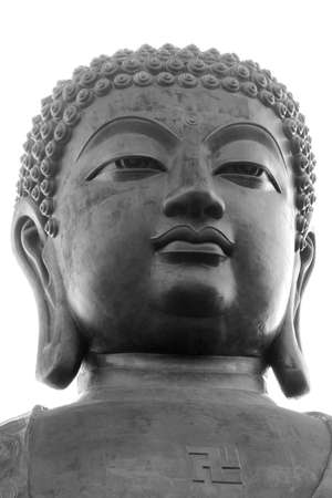 Tian Tan Buddha in close up in Po Lin Monastery at Lantau island in Hong Kong photo