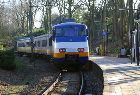 Public transport by train in the Netherlands Stock Photo