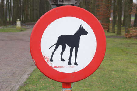 Prohibition sign, no dogs and pets allowed  photo