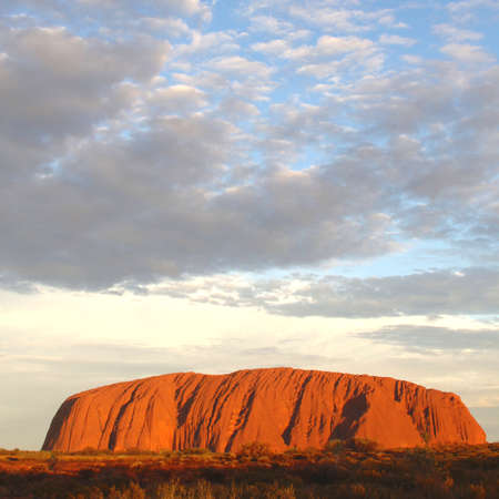 Ayers Rock is the biggest rock in the world, Northern Territory,Australia Editorial