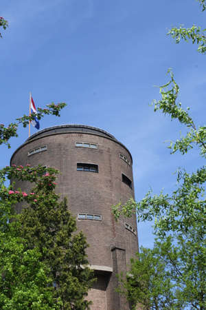 soest: Ancient water tower in Soest, Holland Stock Photo